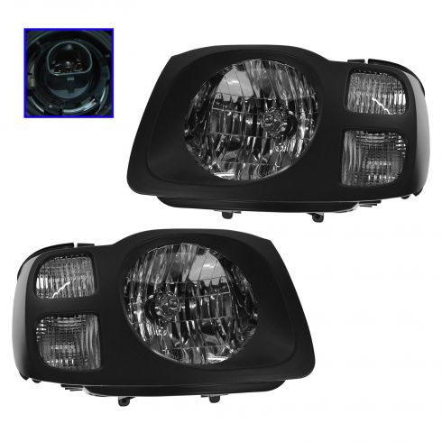 2002-04 Nissan Xterra (XE) Headlight Pair