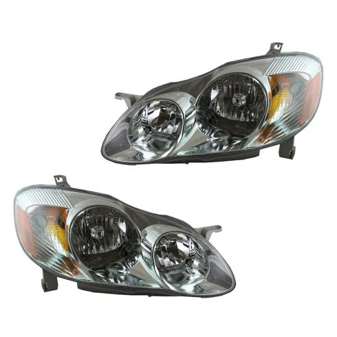 2003-04 Toyota Corolla Headlight Pair (S Model)