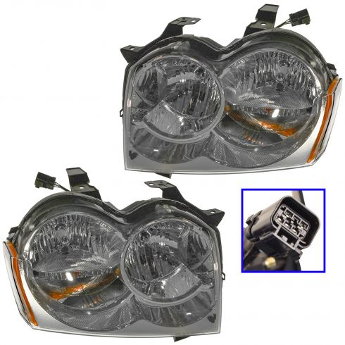 05-07 Jeep Grand Cherokee Headlight Pair