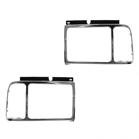 92-97 Ford Aerostar Chrome HL Bezel Pair