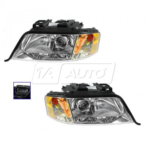 00-01 Audi A6 Xenon Headlight Pair