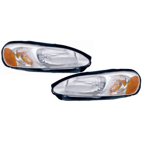 2001-02 Dodge Sebring Stratus Coupe Headlight Pair