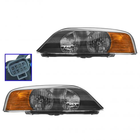 2000-02 Lincoln LS HEADLAMP Pair