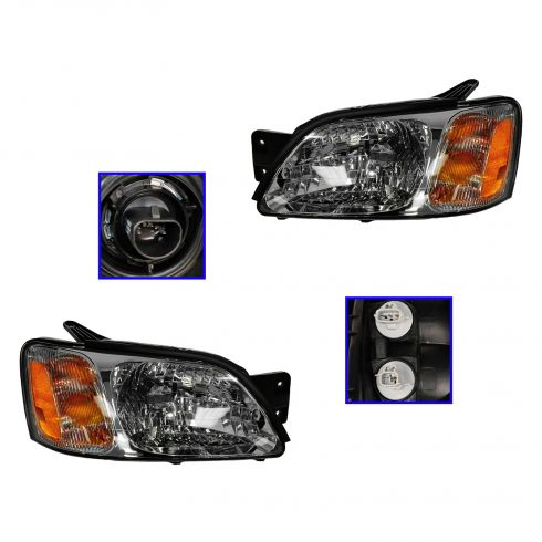 2000-04 Subaru LEGACY L HEADLAMP Pair