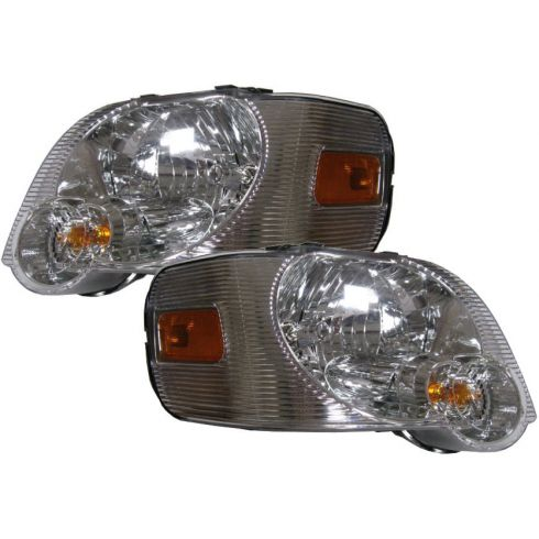 2006-09 Ford Explorer: 2007-09 Sport Trac w/Clear Background Headlight PAIR