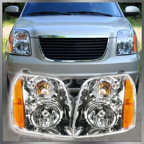 07 GMC Yukon Yukon XL Headlight Pair (Except Denali Models)