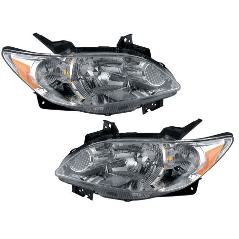04-06 Mazda MPV Headlight With Chrome Bezel Pair