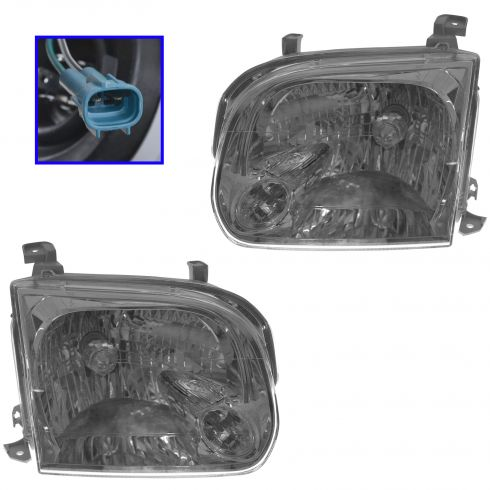 05-07 Toyota Sequoia Tundra Double Cab 4dr Headlight Pair