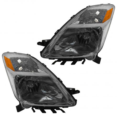 04-06 Toyota Prius Headlight Pair Halogen