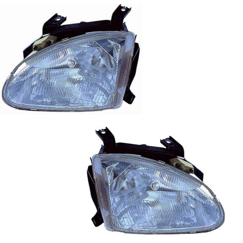 93-97 Honda Civic DelSol Headlight Pair