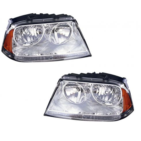03-05 Lincoln Aviator Headlight Halogen Pair