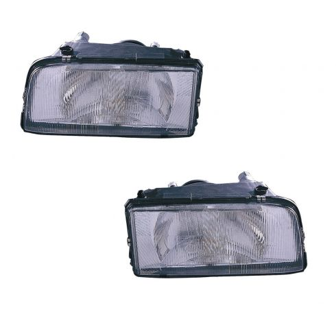 93-97 Volvo 850 Headlight for Single Bulb model Pair