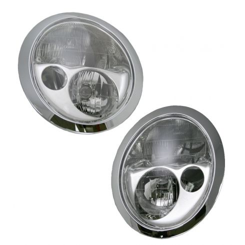 02-04 BMW Mini Cooper Halogen Headlight Pair