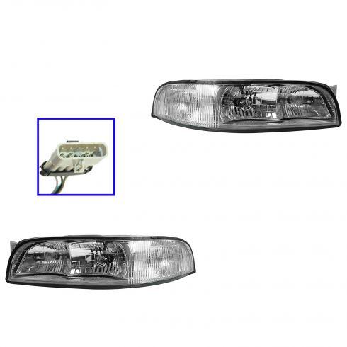 97-99 Buick LeSabre Headlight Pair