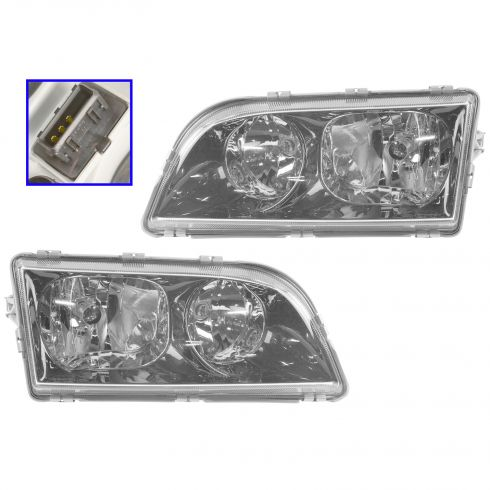 00-02 Volvo S-40 Headlight Pair
