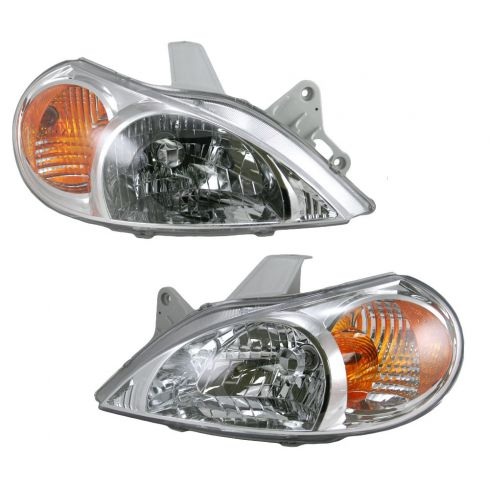 2000-02 Kia Rio Sedan Headlight Pair