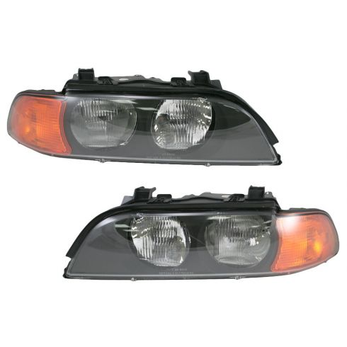 1998-00 BMW 528i, 540i Halogen Headlight Pair