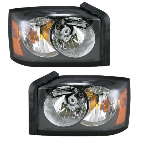 06-06 Dodge Dakota Headlight Pair