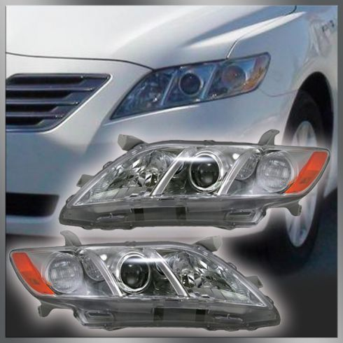 07-08 Toyota Camry LE and XLE Headlight Pair