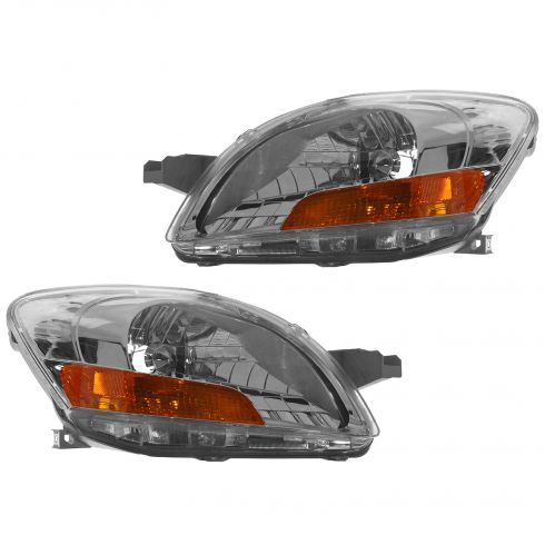 07-08 Toyota Yaris Sedan Headlight Pair