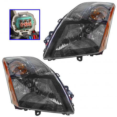 07-09 Nissan Sentra 2.5L Headlight Pair