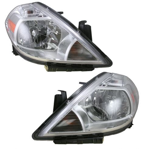 07-08 Nissan Versa Headlight Pair