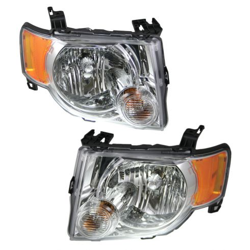 08-09 Ford Escape Hybrid Headlight Pair