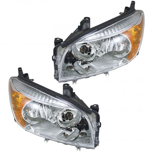06-08 Toyota RAV-4 Base and Limited Headlight Pair