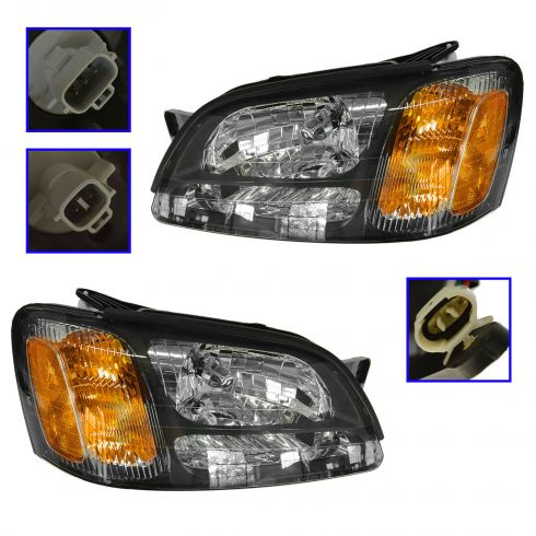 00-04 Subaru Legacy Outback GT Headlight Pair