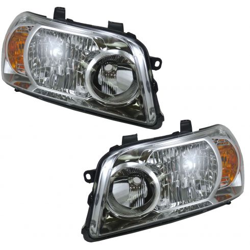 07-07 Toyota Highlander Hybrid Headlight Pair