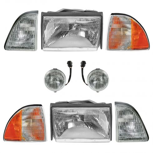 87-93 Ford Mustang Headlight Parklamp Foglight Kit