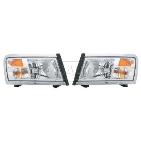08-09 Dodge Dakota Headlight non Black Pair