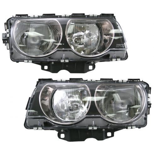 99-01 BMW 740 750 I IL Headlight Halogen Pair