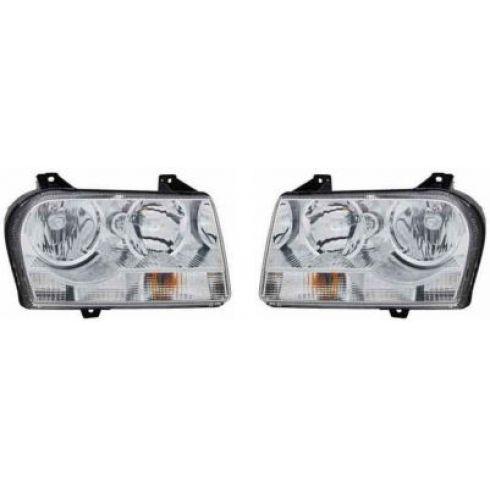 2008-09 Chrysler 300 Headlight Pair (for 2.7 3.5L)