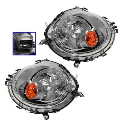 2007-11 Mini Cooper Halogen Headlight Pair