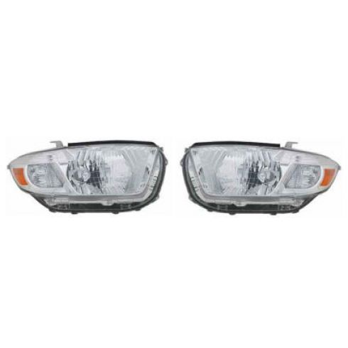 2008-09 Toyota Highlander Headlight Pair (Base Limited)
