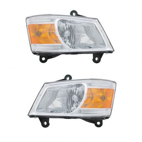 2008-09 Dodge Caravan Headlight Pair