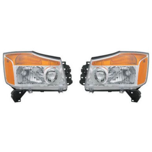 2008-09 Nissan Titan Headlight Pair