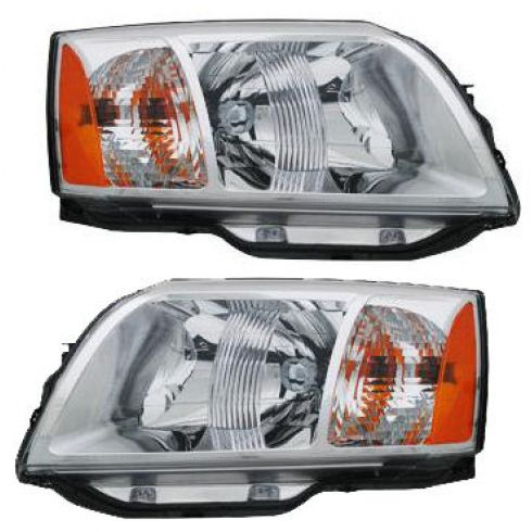 2004-08 Mitsubishi Endeavor Headlight Pair