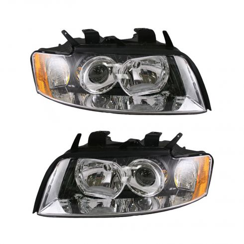 02-05 Audi A4 S4 Non-HID Headlight Pair