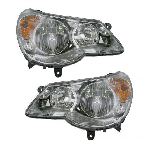 07-08 Chrysler Sebring Sedan Headlight Pair
