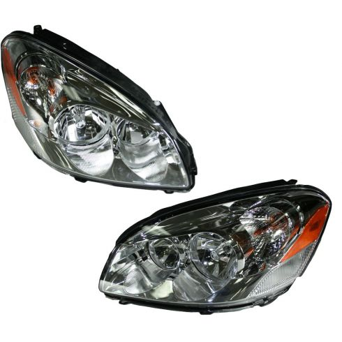 06-08 Buick Lucerne Headlight (Except CX Model) Pair
