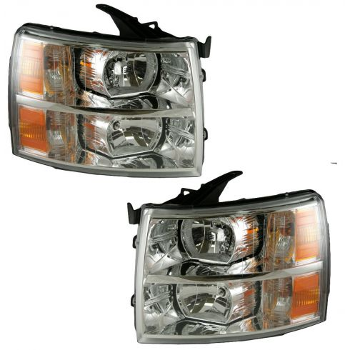 07-08 Chevy Silverado Pickup Headlight Pair