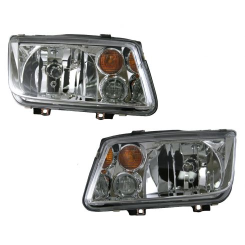 02-05 VW Jetta Headlight with Fog Light Pair