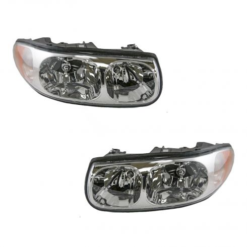 00-05 Buick Lesabre Custom Headlight with Lined Hi-beam Lens without Cornering L