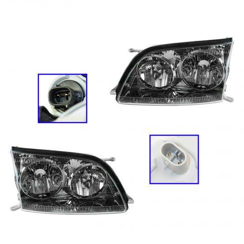 1998-00 Lexus LS400 HID (w/o Ballast) Headlight PAIR