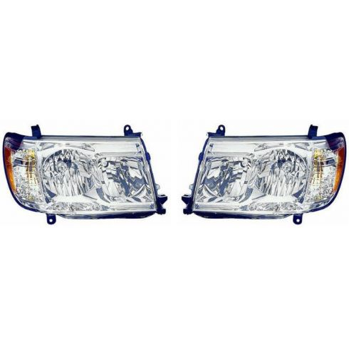 2005-07 Toyota Land Cruiser Headlight PAIR