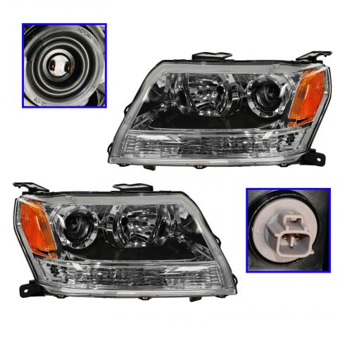 2006-08 Suzuki Grand Vitara Headlight PAIR