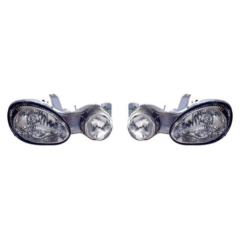 2000-01 Kia Spectra Headlight PAIR