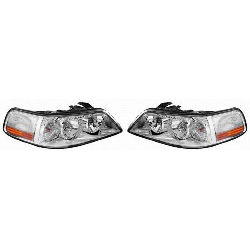 2003-04 Lincoln Towncar HID (w/Ballast) Headlight PAIR